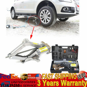 5 Tons 12v Automatic Electric Car Jack Scissor Lift Garage Vehicle Tire Repair