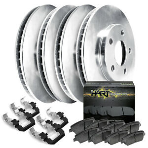 Fits 1998 2000 Kia Sephia spectra Front Rear Plain Brake Rotors ceramic Pads