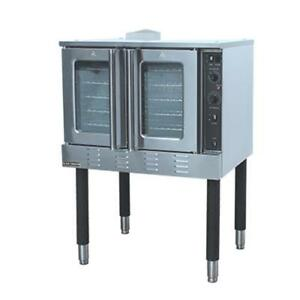 New Single Gas Convection Oven Adcraft Bdcof 54ng 6292 Commercial Bakery Etl