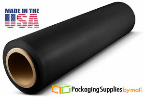 Stretch Film 12 X 1000 Ft 120 Gauge Black Stretch Moving Packing Wrap 4 Rolls