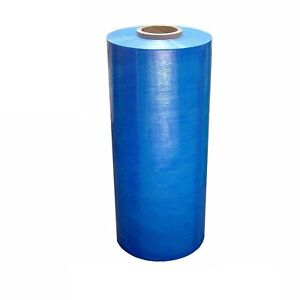 20 X 5000 80 Ga Blue Color Stretch Wrap Machine Cast Tinted 2 Rolls
