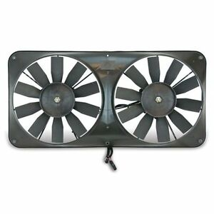 Flex a lite 330 11 Dual Electric Fan W full Shroud Adjust Controller