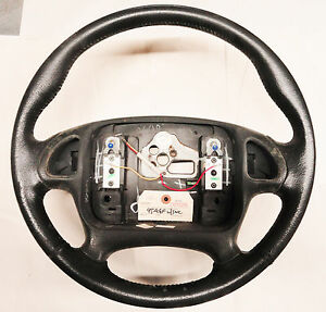 95 98 Firebird Trans Am Steering Wheel For Radio Controls Leather Used 02026