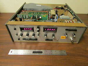 Integra Vts 102 Vco Test Set 2 18 Ghz Incomplete But Working Rf Microwave