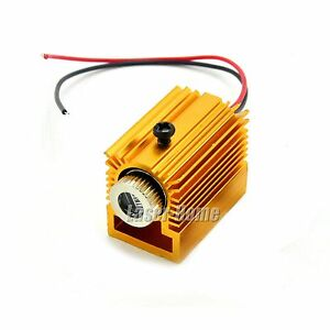 450nm 50mw Blue Line Focusable Laser Diode Module W Heatsink Driver In