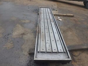 133 X 28 x 8 Steel Welding T slot Table Cast Iron Layout Plate Fixture 5 Slot