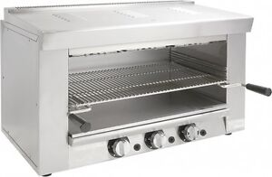 New 36 Cheese Melter Broiler Overhead Gas Adcraft Bdchm 36 ng 6297 Nsf