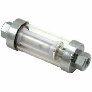 Spectre Performance Inline Clearview Chrome Fuel Filter 6932