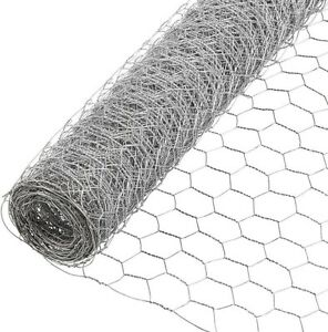 2 X 50 Ft Poultry Chicken Coop Steel Net Mesh Netting Screen