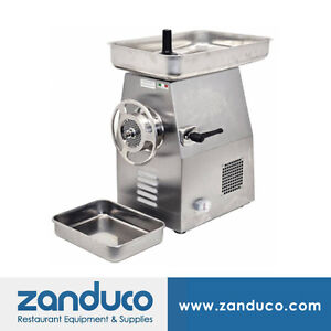 Omcan Commercial 32 Italian Stainless Steel Meat Grinder With 3 Hp Mg it 0032 c