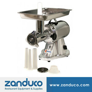 Omcan Commercial 22 Aluminum Meat Grinder With 1 5 Hp Mg cn 0022 e