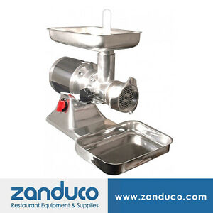 Omcan Commercial 22 Aluminium Electric Meat Grinder With 1 5 Hp Mg it 0022 c