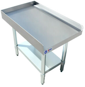 Zanduco 30 X 15 Commercial Stainless Steel Equipment Stand With Undershelf Nsf