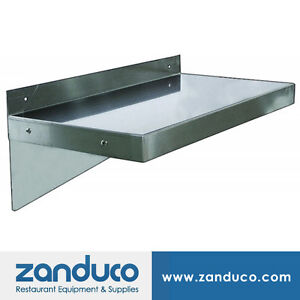 Zanduco Stainless Steel Wall Shelf 12 X 36 Nsf