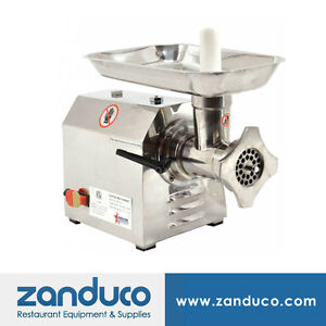 Omcan Commercial 12 Stainless Steel Meat Grinder With 0 87 Hp Mg cn 0012 s Etl