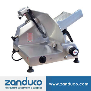 Omcan Aluminum Slicer With 13 330mm Blade And 0 5 Hp Ms it 0330 l