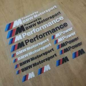 New Pvc M Motorsport Car Auto Sticker Decal Emblem Badge Fit For Bmw M3 M5