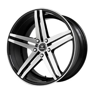 20x10 Verde Parallax 5x114 3 25 Black Rims Fits Honda Accord 2008 2012