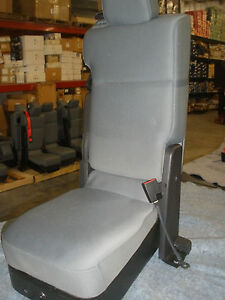 Ford Grey Cloth Console Jump Seat For 99 15 Ford F 250 350 450 550 Removed New