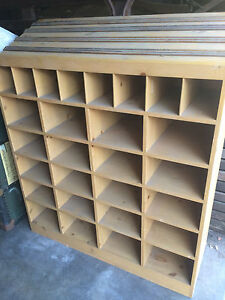 Wood Display Cabinet Cubby Hole Cabinet Box Wood Large Store Display