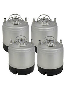 New Kegco 1 75 Gallon Home Brew Ball Lock Keg With Strap Handle Set Of 4