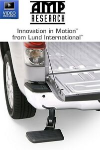 Amp Research Bedstep Bumper Step Fits 2016 2018 Toyota Tundra Pickup Truck