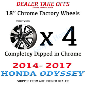 18 Honda Odyssey Touring 2014 2015 2016 2017 Factory Oem Rim Wheel Set Chrome