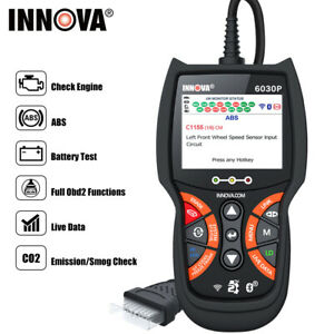 Innova 6100p Abs Srs Obd2 Scanner Code Reader Battery Test Oil Reset Diagnostic