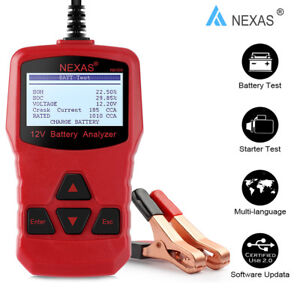12v Car Battery Load Tester Charging Starter Analyzer 100 1000cca Agm Gel Tool