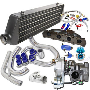 Turbo Kit K04 015 Turbo black Intercooler For 00 05 Volkswagen Golf Jetta 1 8t