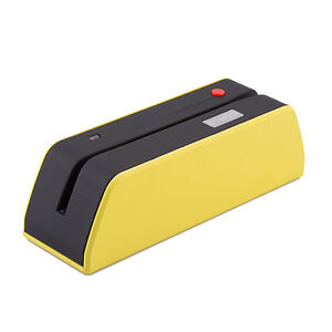 Usb Msr x6bt Magnetic Stripe Credit Reader Writer Encoder 1 3 Size Of Msr Yellow