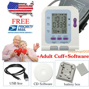 Fda Us Seller Digital Upper Arm Blood Pressure Monitor adult Bp Cuff pc Software