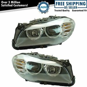 Halogen Headlight Lamp Assembly Lh Rh Set Pair For Bmw 528 535i Brand New