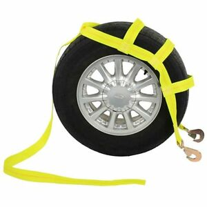 Tow Dolly Basket Strap With Twisted Snap Hooks Car Tie Down Strap Heavy Duty