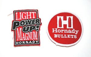 Set of 2 Vintage Hornady Ammo Bullet Gun Target Shooting Patch New NOS 1980s $14.99