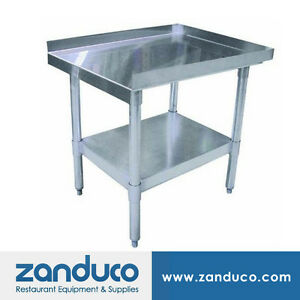 Zanduco Stainless Steel 30 X 36 Equipment Stand Nsf