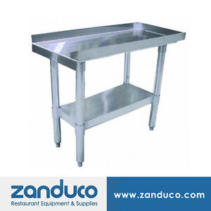 Zanduco 30 X 18 Commercial Stainless Steel Equipment Stand With Undershelf Nsf