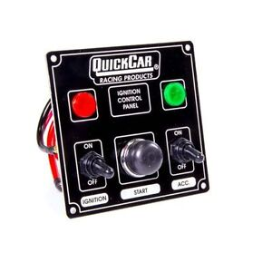 Quickcar Racing Products 50 822 Dash Mount Switch Panel 4 5 8 X 4 3 8 Aluminum