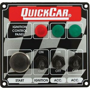 Quickcar Racing Products 50 025 Dash Mount Switch Panel 4 5 8 In X 4 3 8 In