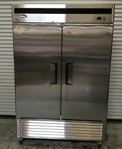 2 Door Refrigerator Atosa Mbf8507 6388 Commercial Stainless Steel Reach In Nsf
