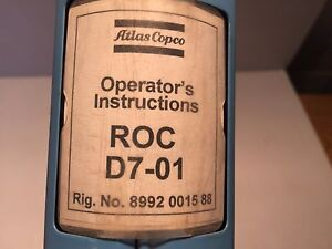 Atlas Copco Roc D7 01 Hydraulic Drill Maintenance Operators Manual