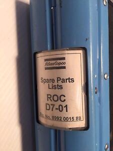 Atlas Copco Roc D7 01 Hydraulic Track Drill Parts Manual Catalog