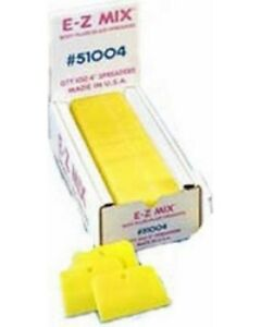 100 4 Bondo Spreaders Yellow Ez Mix 51004 Emx 51004