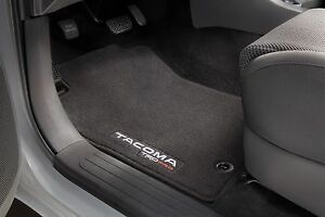 Toyota Tacoma 2012 2015 Double Cab Black Trd Pro Carpet Floor Mats Oem New