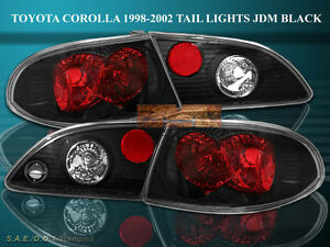 1998 1999 2000 2001 2002 Toyota Corolla Altezza Tail Lights Black 4 Pieces