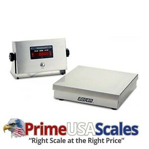 Digital Bench Scale Doran 74100 12 Stainless Steel 100 X 0 02 Lb