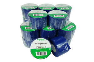 27 Rolls 2x 36y Insulated Electrical Vinyl Pvc Sealing Tape Flame Retardant Blue