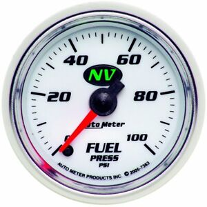 Autometer Fuel Pressure Gauge Gas New 7363