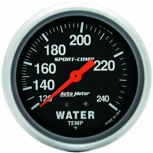 Autometer Water Temperature Gauge New 3432