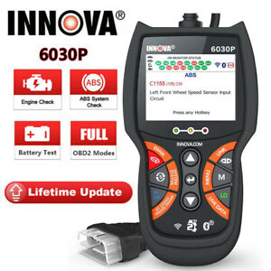 Auto Obd2 Scanner Code Reader Check Engine Airbag Srs Abs Reset Diagnostic Tool